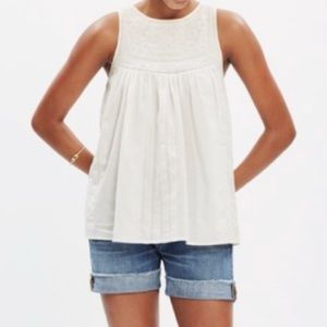 Madewell Embroidered Swing Top